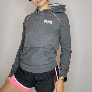 Victoria's Secret PINK Grey Zip up hoodie